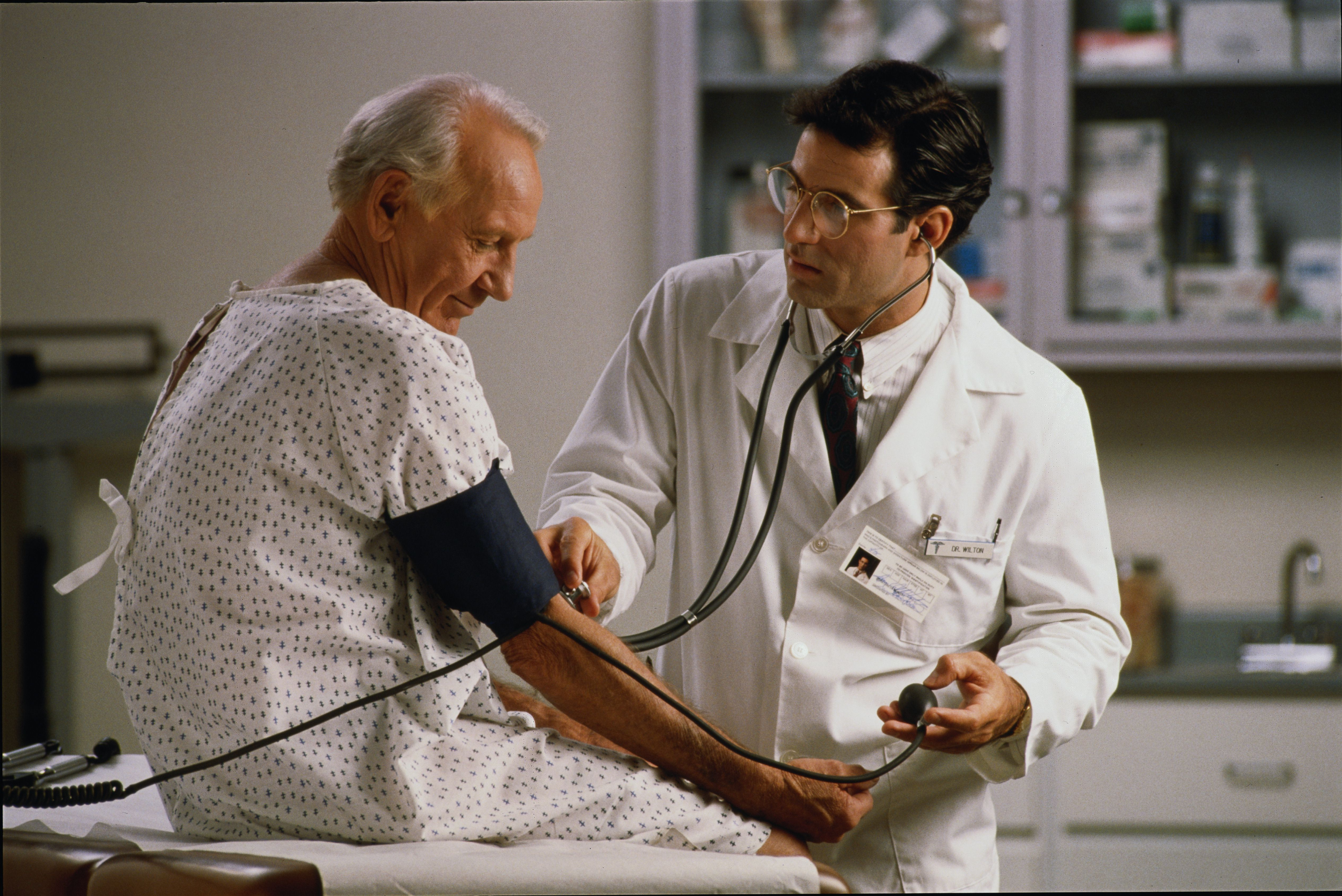 Doctor and patient - blood pressure
