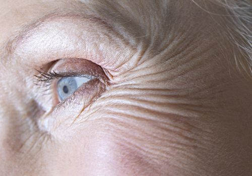 Close-Up of a Senior Woman's Eye