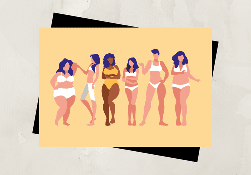 Different women with different body types.