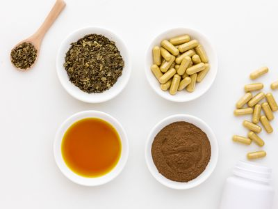 Goldenseal dried herb, extract, capsules, and powder
