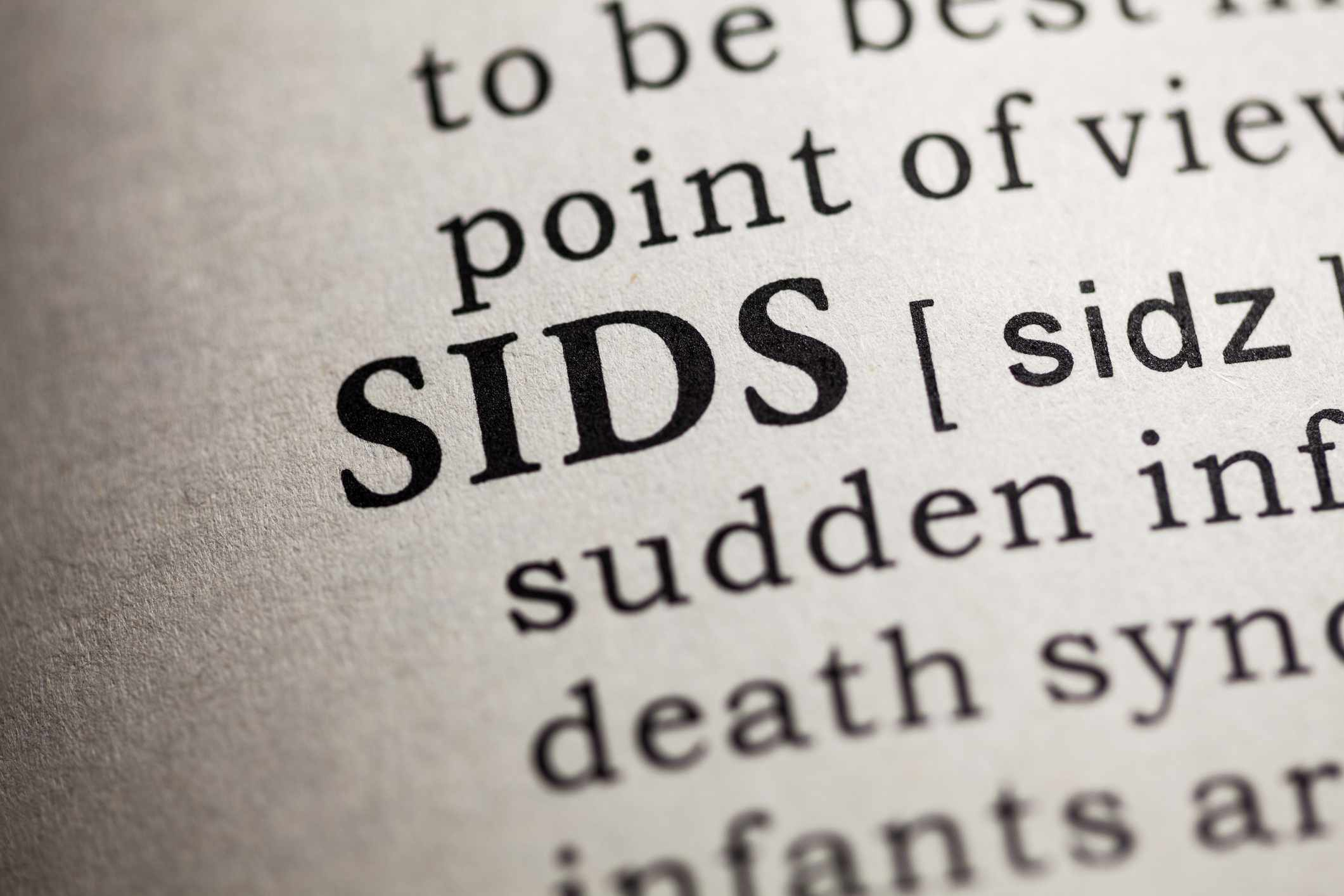Sudden Infant Death Syndrome SIDS definition