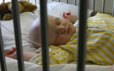 baby sleeping during chemotherapy