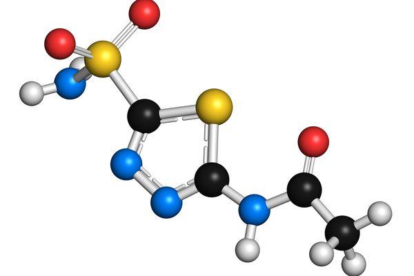 Diamox (acetazolamide) molecule