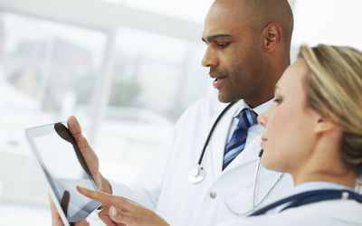 Physicians Reviewing Test Results