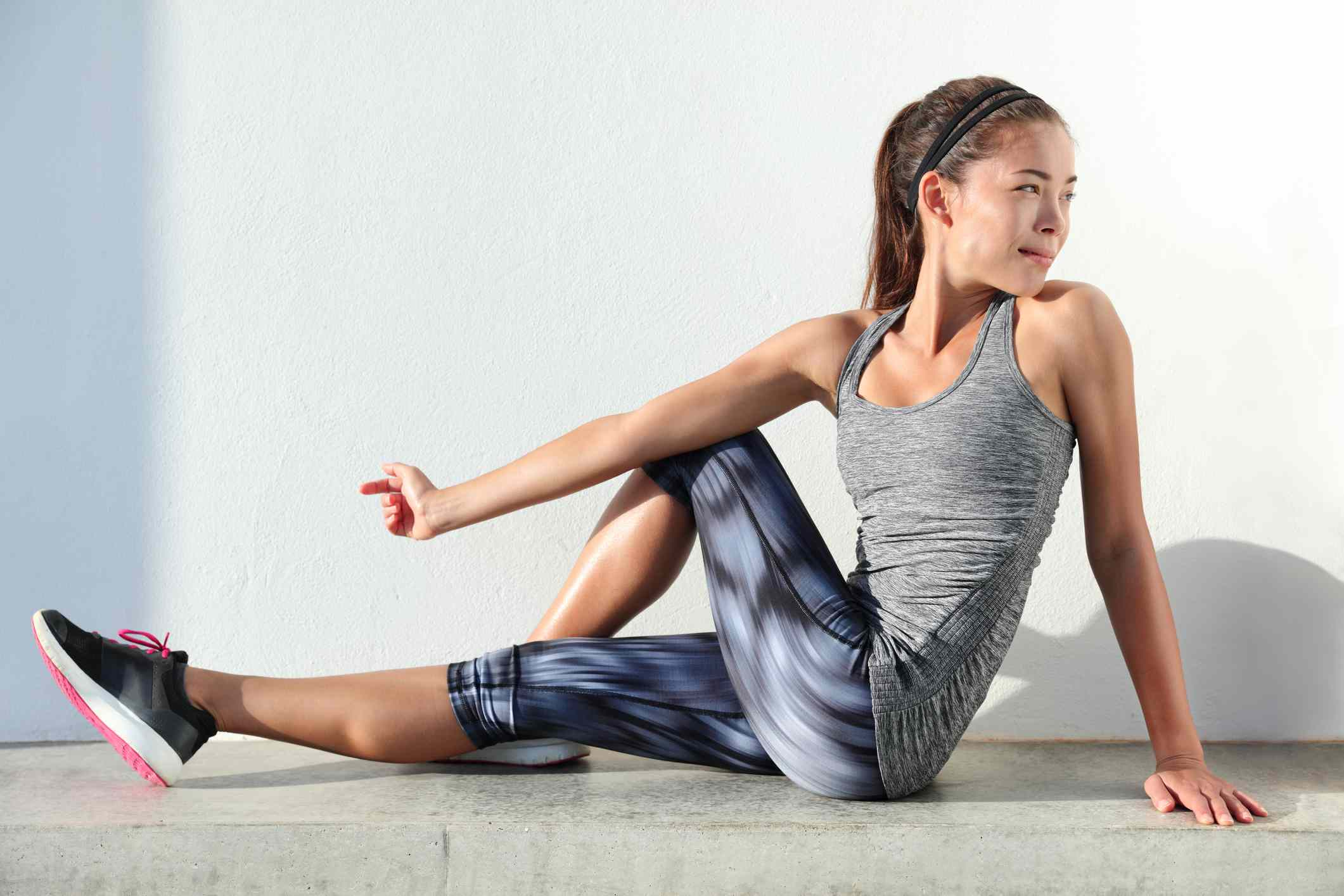 The sitting piriformis stretch