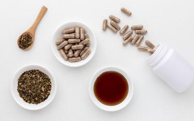 Uva Ursi tea, tincture, and capsules