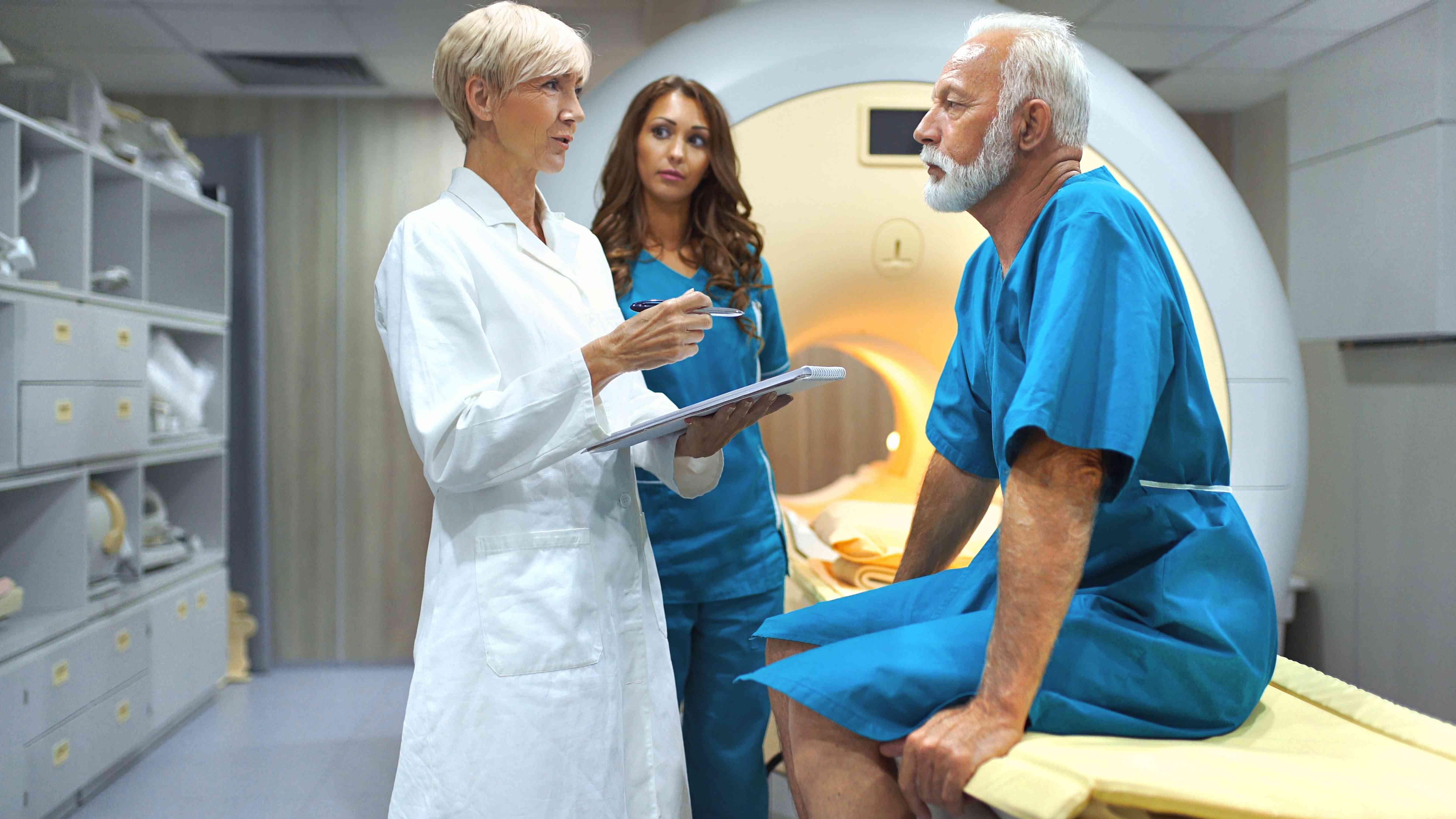 MRI scanning procedure.