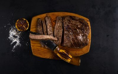 Well done steak is safe to eat on a low bacteria diet.