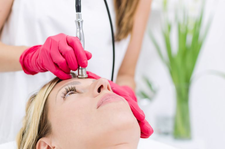 Diamond microdermabrasion facial treatment