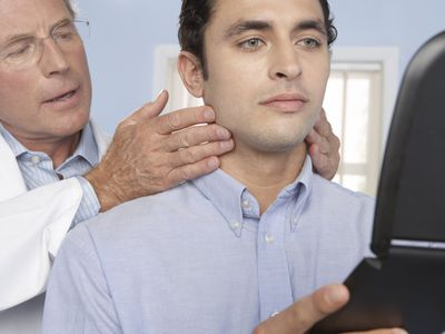 Man having plastic surgery consultation
