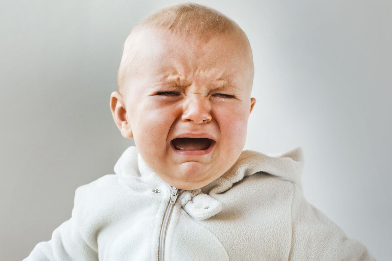 Close-up of a crying baby.