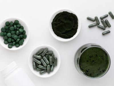Spirulina tablets, capsules, powder, and juice