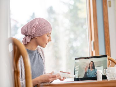 Virtual doctor appointment for cancer patient at home