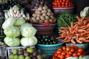 Fresh produce at the Farmers Market