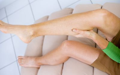 Woman With Leg Cramps