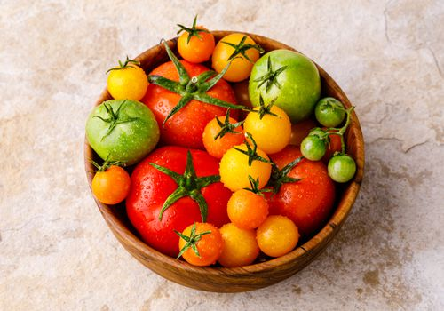 Bowl of various tomatoes