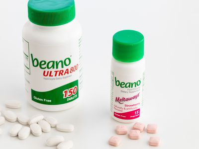 Beano capsules and chewable tablets