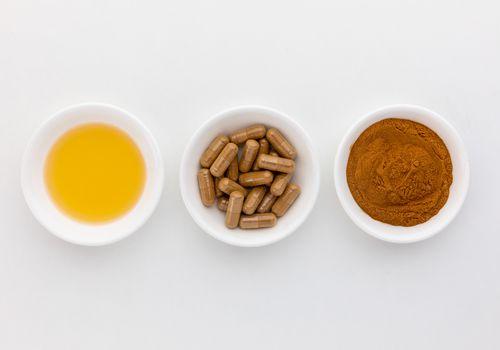 Mulungu tincture, capsules, and powder