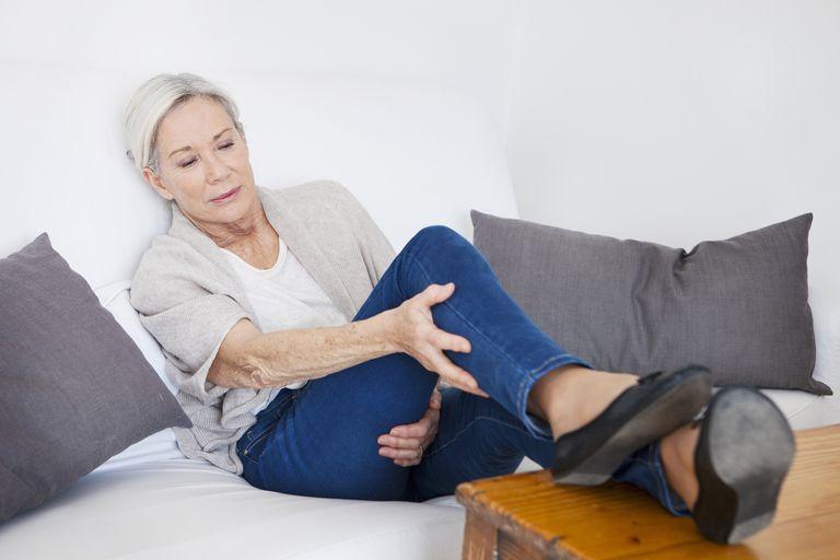 Leg pain in an elderly person