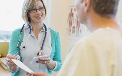 Doctor explaining gout to patient