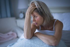 A women suffering from insomnia.