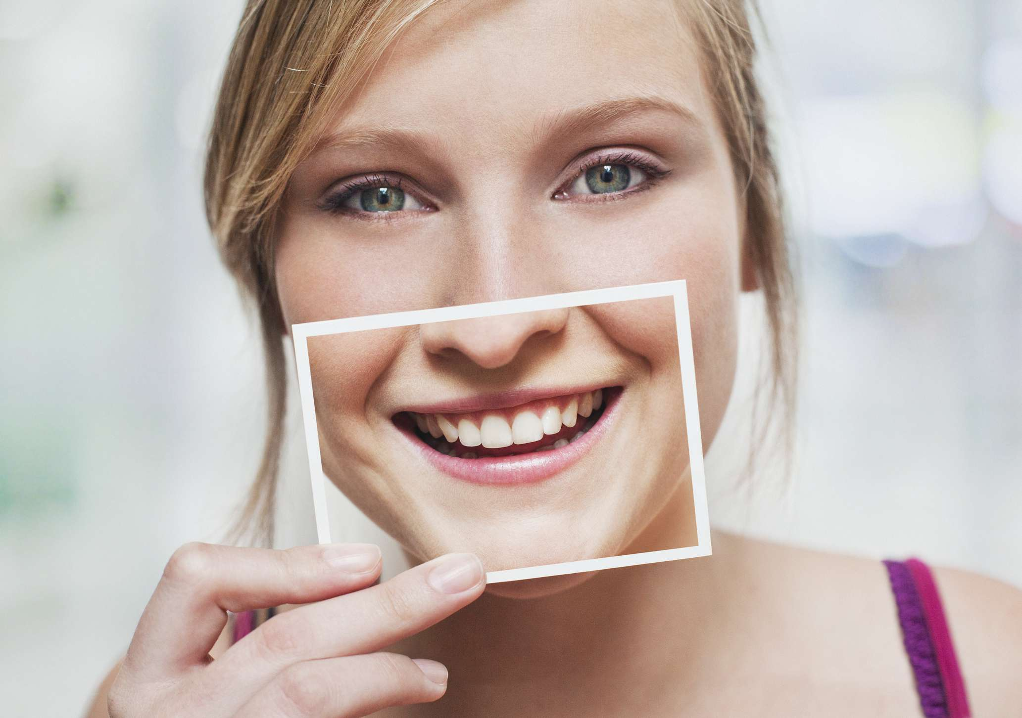 woman with perfect teeth