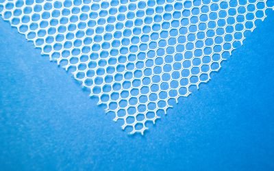 Close-up of surgical mesh