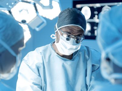 Surgical team in operating theatre