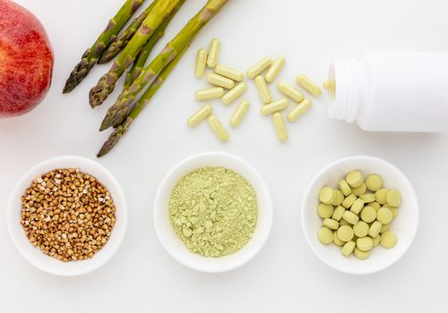 Rutin capsules, tablets, powder, asparagus, apple, and buckwheat