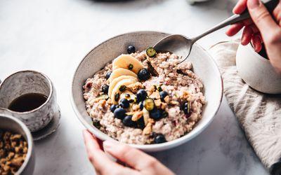 Bowl of breakfast oatmeal