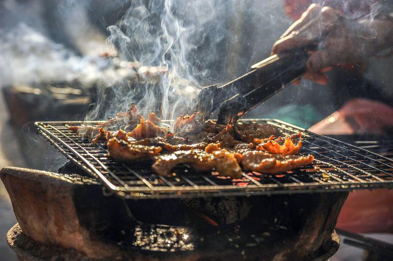 Barbecue smoke