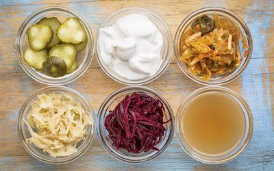 fermented foods- sauerkraut, kimchi, yogurt, vinegar, pickles