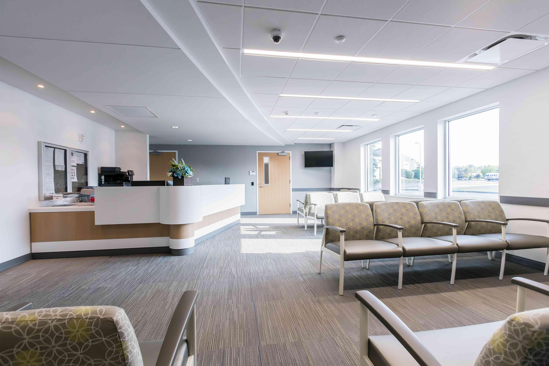 A medical waiting room