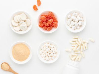 Vitamin C tablets, capsules, gummies, and powder