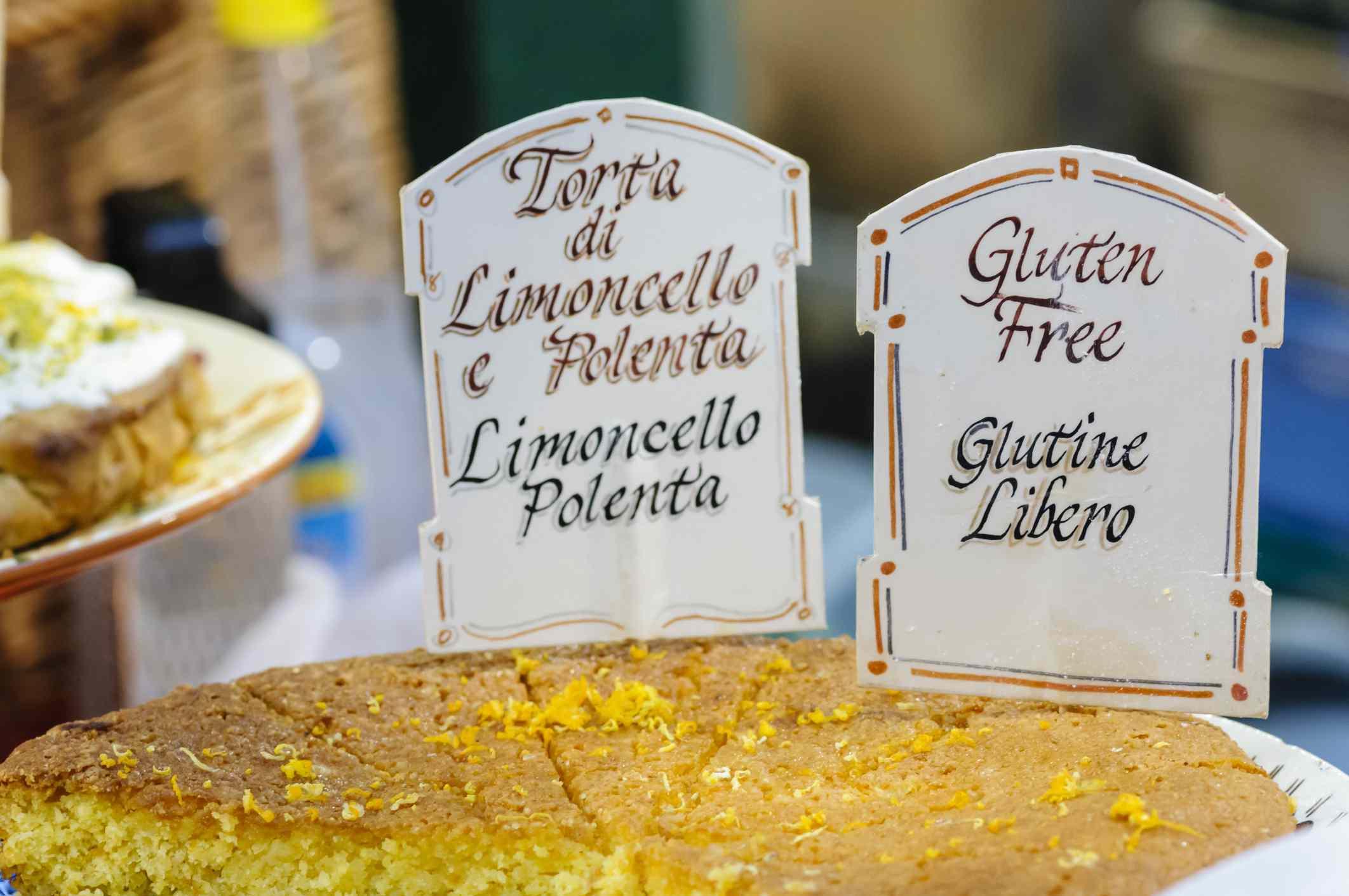 Gluten-free limoncello polenta display