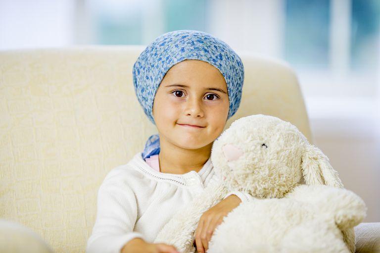 Hopeful Little Girl with Cancer