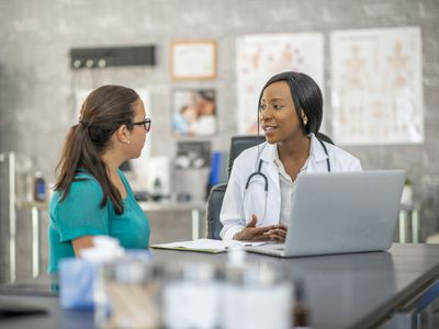 Endocrinologist and patient discuss diabetes
