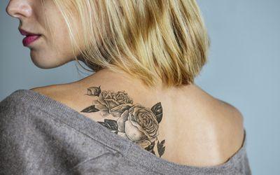Back tattoo of a woman