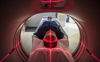 Patient going in for a CT scan
