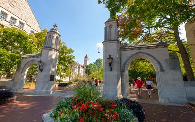 Sample Gates at Indiana University campus