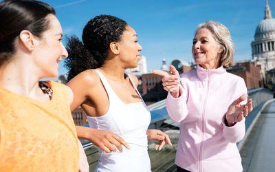Three Women Pause on a Walk