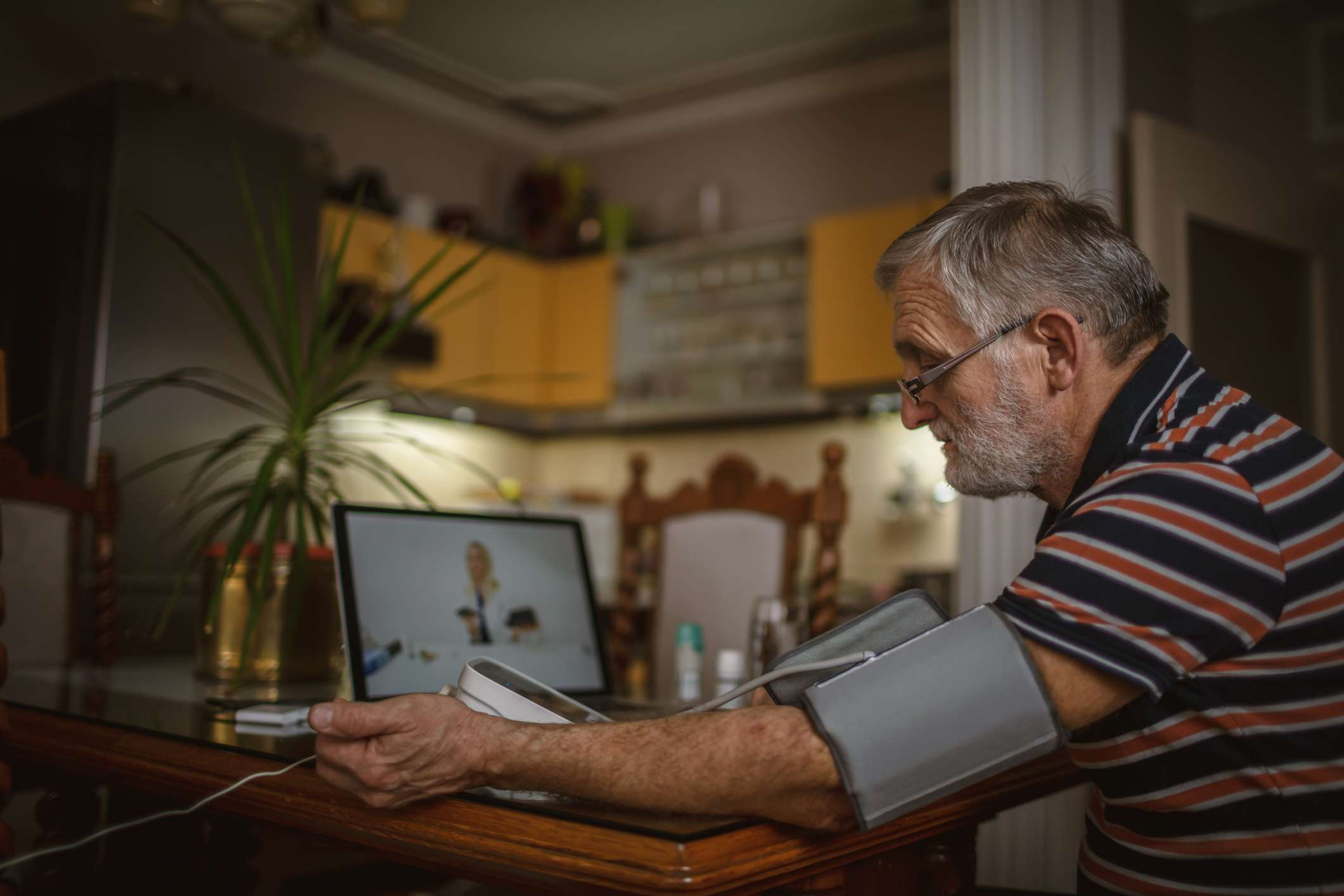 Telehealth visits can be an easy way to monitor your blood pressure.