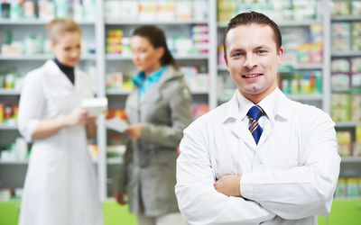 Pharmacists in a pharmacy