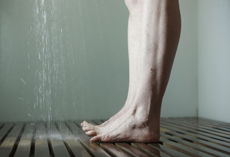 Woman's legs in shower