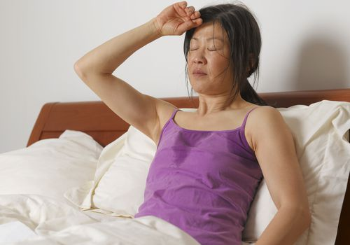 Woman having night sweats
