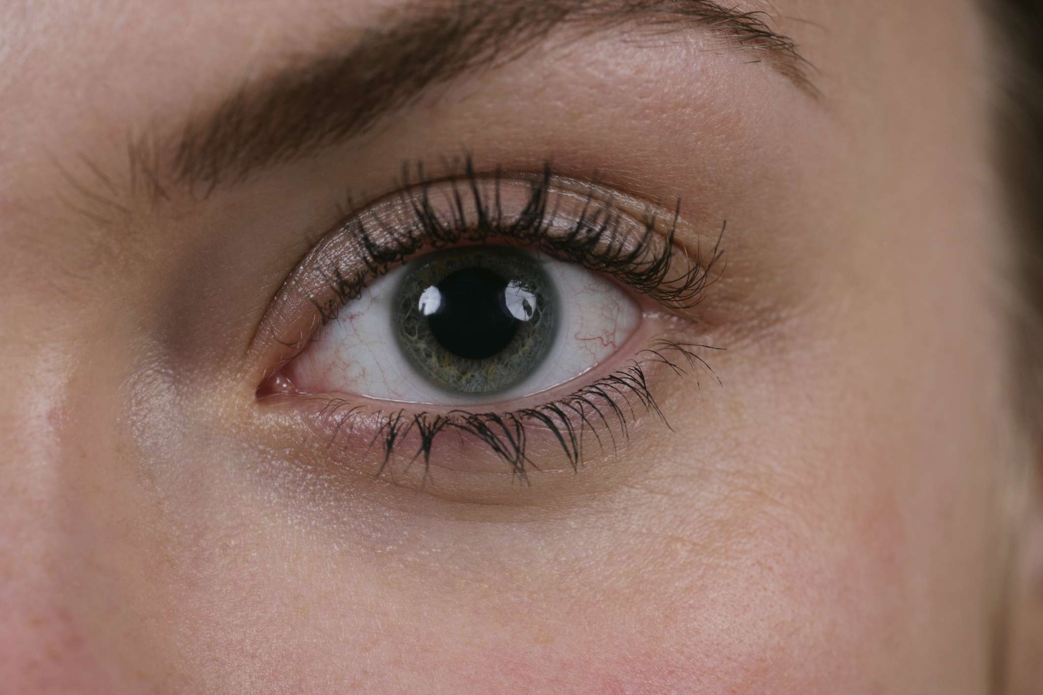 Dilated pupil close up