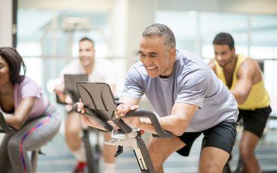older man at gym