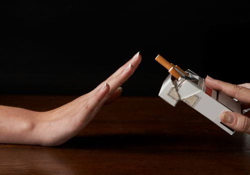 refusing a cigarette, but lung cancer in never smokers is common