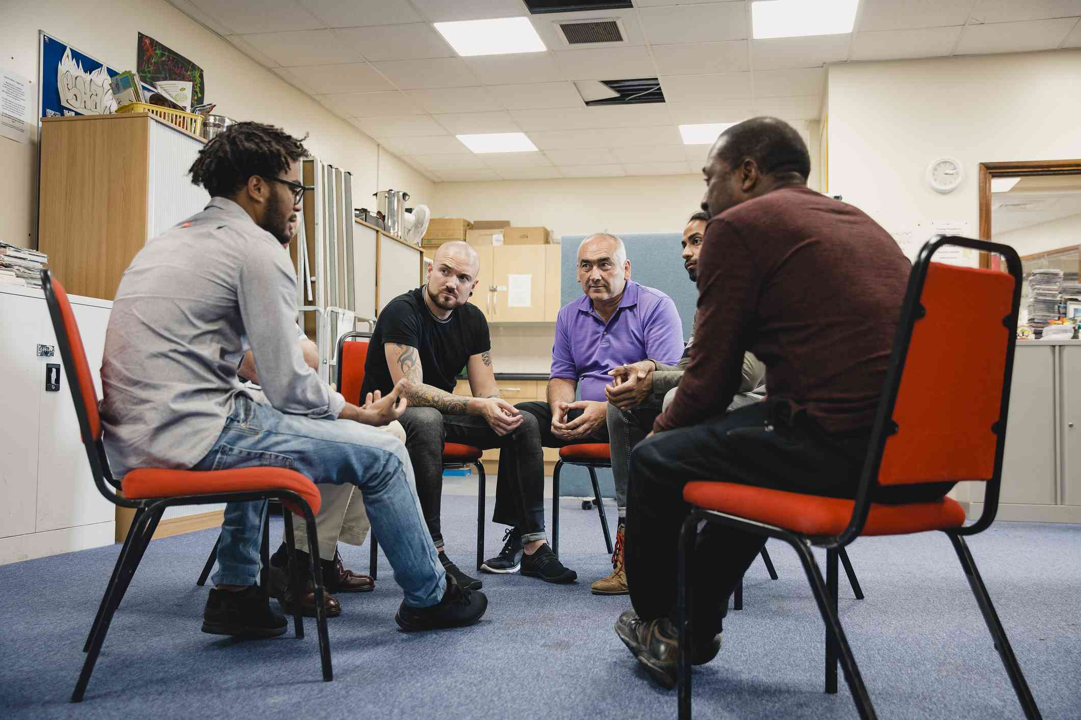 Mental health and substance abuse support group