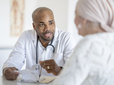 Woman with Cancer Visits the Doctor